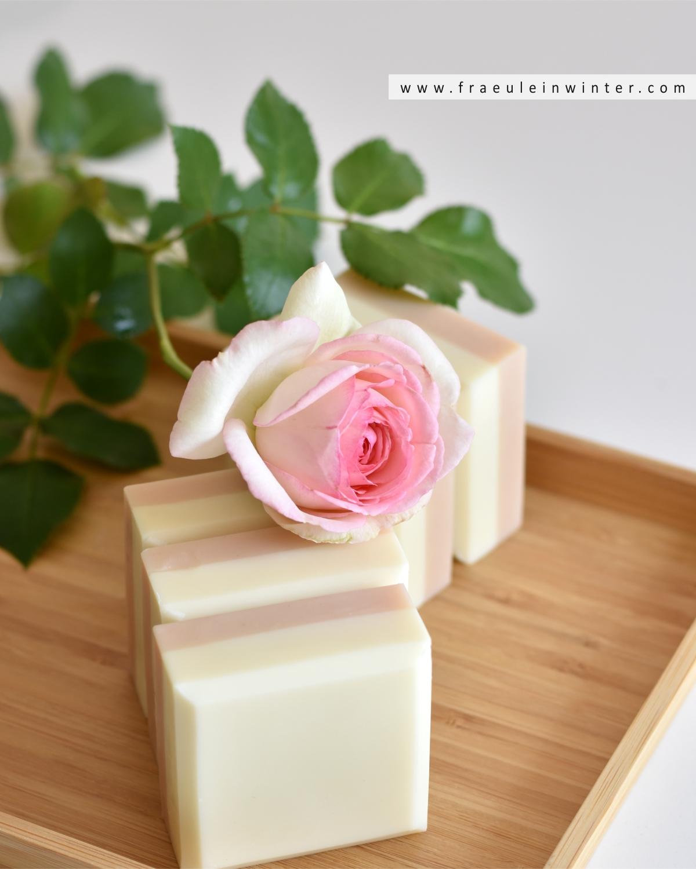 Seife mit Rosenduft selber machen