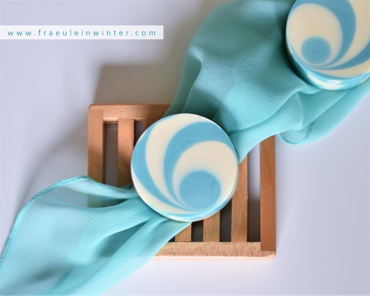 Dekorative Seife mit zweifarbigem Muster