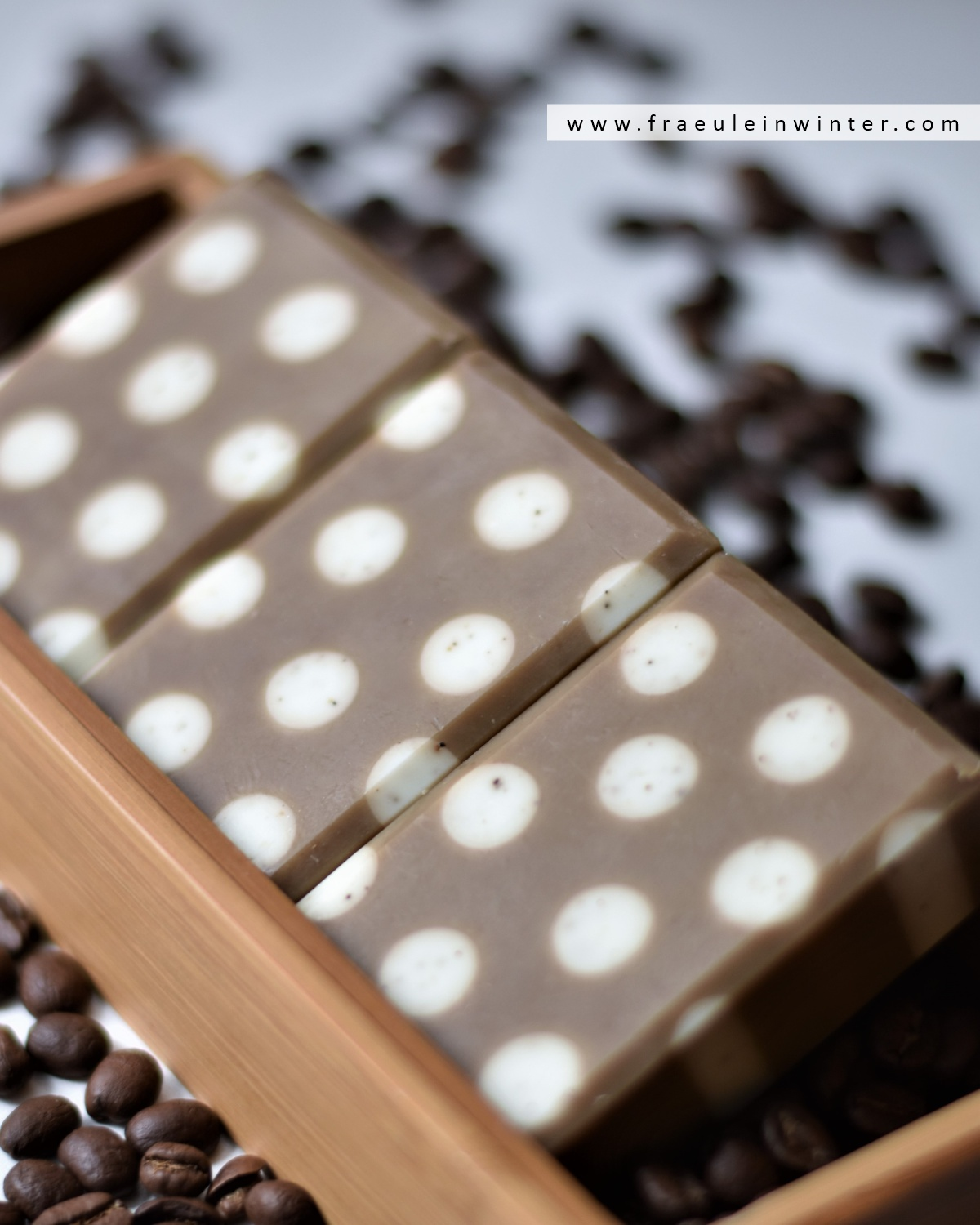 Polka Dot Coffee Soap